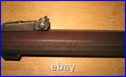 Rare 54 cal barrel for Thompson Center Hawken, 1 across the flats, browned