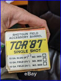 Thompson Center 12GA smooth bore slug TCR Barrel w sights 2 3/4 new old stock