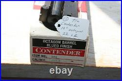 Thompson Center Arms Contender 22LR 10 Octagon Barrel 22 LR T/C TC with Box 11