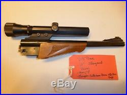 Thompson Center Arms Vintage 10 OCTAGON Barrel 218 BEE with Fore End & TC Scope