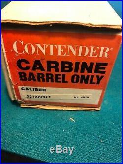 Thompson Center Contender 21 Rifle Barrel. 22 Hornet Single Shot T/C