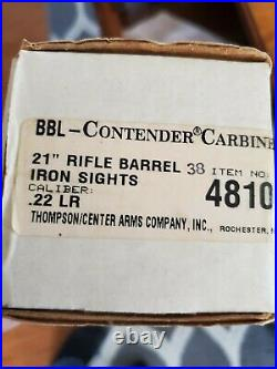 Thompson Center Contender 21 rifle barrel 22lr Withsights