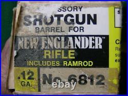 Thompson Center New Englander 12 Ga Barrel NOS with Screw In Choke Vintage