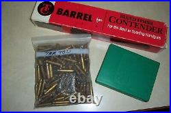 Thompson Center T/C Contender Barrel Super 14 7mm TCU with dies-brass Perfect