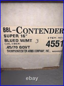Thompson center contender barrel 45/70 Super 16